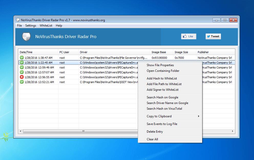 Driver Radar Pro full screenshot