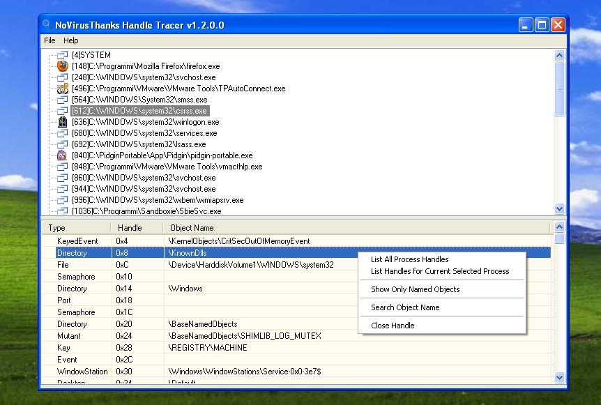 Handle Tracer full screenshot
