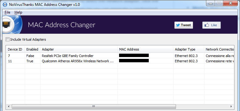 Change (Spoof) MAC Address with MAC Address Changer