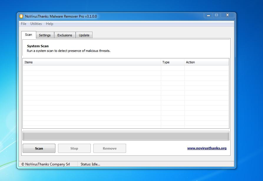 NoVirusThanks Malware Remover full screenshot