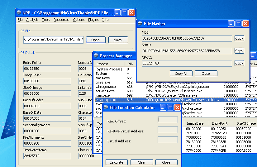 NPE File Analyzer full screenshot