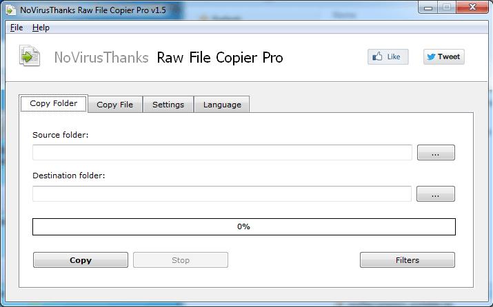 Fast Raw File Copier Pro full screenshot