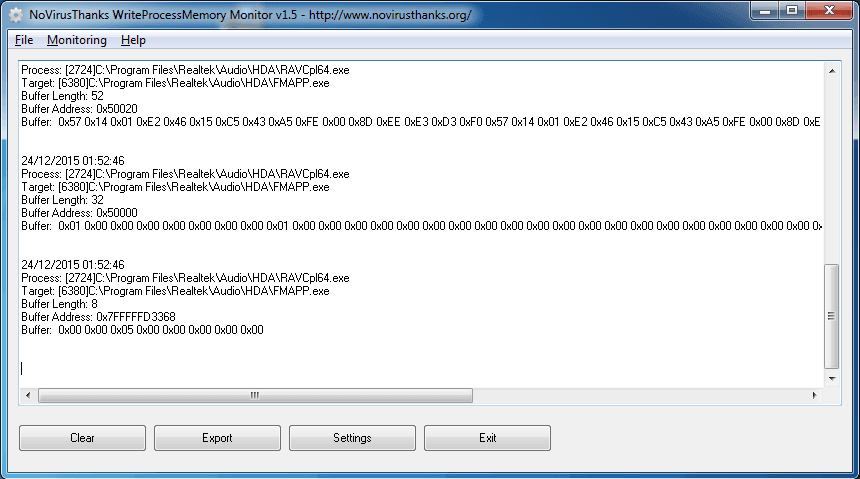 Windows 7 WriteProcessMemory Monitor 1.5 full