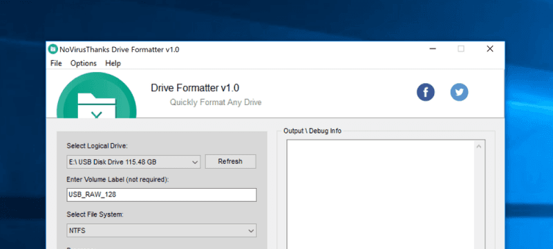 Quickly and Securely Format any Drive with Drive Formatter