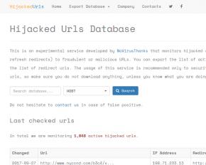 hijacked-urls-database
