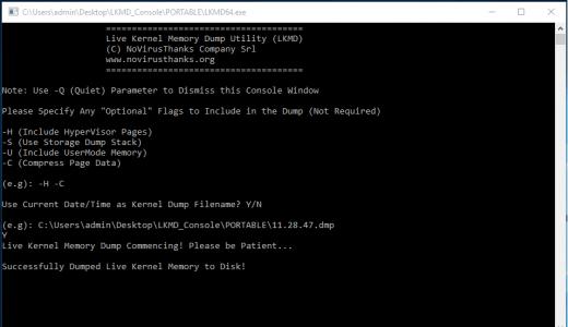 live-kernel-memory-dump
