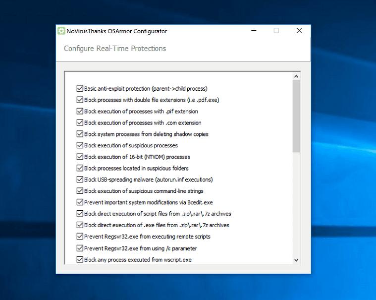 OSArmor  Osarmor-configurator-screenshot