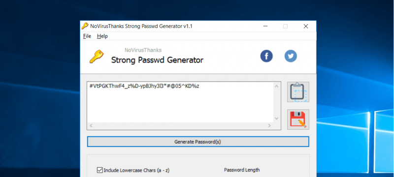 Generate Strong Passwords with this Windows Application | NoVirusThanks